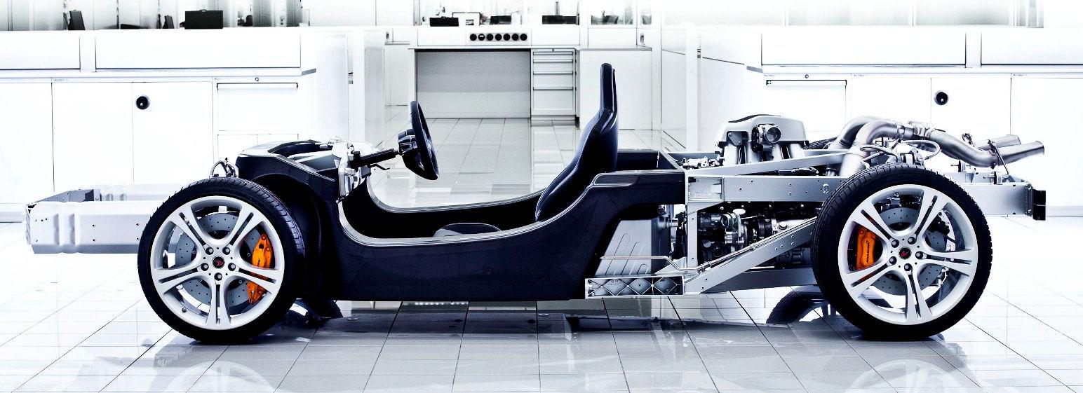 Design of car frame - Mclaren Mp4 12c Chassis